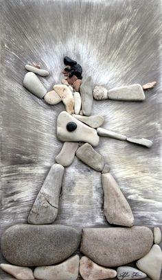 Elvis Pebble Art