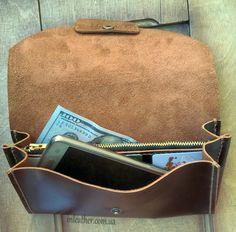 Оригинальный, кожаный клатч