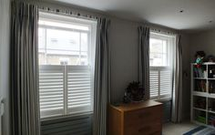 Clever curtains on a covered lathe for a good nights sleep! Curtain making putney, thedecorcafe.com