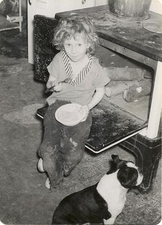 Our first Boston Terrier, King............he's the one that started it all, over 50 years ago and still love Boston's