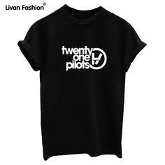 New Summer style t shirt Sleeve Cotton t-shirt Women t-shirts twenty one pilots lover tees white black
