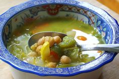 Balance your body with Alkalizing Jalepeno Soup once a week (Jalepenos are alkaline, unlike bell peppers, which are acidic) 2 Tbs Vegan Butter 1/2 Onion – Diced 2 Carrots – Chopped into rounds 3 Clove garlic – Minced 4 jalapeños – Seeded and Diced 1 Zucchini – Diced 1/2 Can Garbanzo Beans 3 Cups not Chicken Broth ( or regular chicken ) 1 Bay leaf – Optional Cook all vegetables in the butter and then add stock and beans. Simmer for 10-15 minutes. Done.