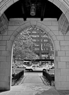 Chicago Prints   Michigan Avenue  Black and White    by tracybragg, $25.00