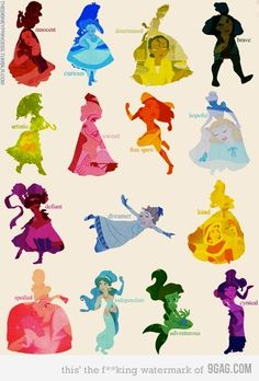 This is really neat. I wouldn't mind having a poster of this, but I can't explain why. I don't have a Disney or Princess interest, I just like it. (Although I love Alice In Wonderland, and Sleeping Beauty. Those are the only two Disney movies I personally own. Unless Up! counts, but I count it as Pixar.)
