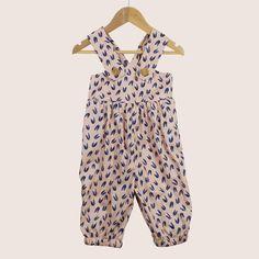 Twee & co Organic Boutique Seaside, Organic Cotton, Harem Pants, Overalls, Cotton Fabric, Blush, Rompers, Boutique, Pattern