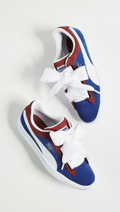 30f51b38b64f PUMA Basket Heart Colorblock Sneakers. A modern take on classic PUMA  sneakers