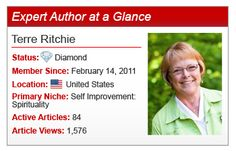 """""""If you worry about the marketing, it takes all the fun out of writing!"""" - Expert Author Terre Ritchie"""
