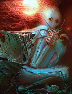 Surrealismo e arte visionaria: Alexandr Kumpan / Creepy Art, Weird Art, Monster Art, Arte Horror, Horror Art, Dark Fantasy Art, Lovecraftian Horror, Bizarre Art, Psy Art