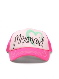 Pink Mermaid Trucker Hat by Billabong - ShopKitson.com I want this!!!!