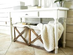 DIY: How to make this canvas crate.  Pottery Barn inspired, copy cat, knock off canvas crate. at Thrifty & Chic blog.