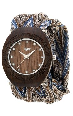 Belle Chocolate Watch. Love the fabric bands. Comes with two options. You buy a watch, they plant a tree. | WeWood Time Pieces