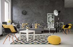 Resultado De Imagem Para Sala Pequena Cinza Com Toque Amarelo E Preto ShadesMindful GrayYellowBlack