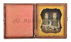 Sixth-Plate-Daguerreotype-Portrait-of-Two-Girls-Embellished-Vintage-Case