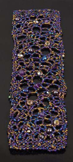 NED Beads Maze: A Freeform Beadwoven Cuff