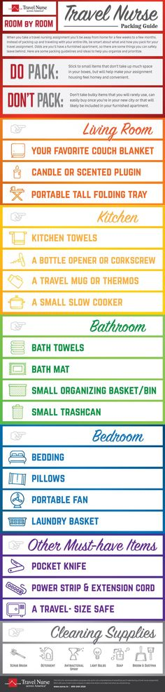 how to pack for a travel nursing assignment