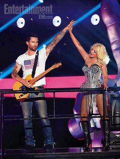 Christina with Adam Levine of Maroon 5