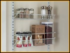 Over The Door Organizer Pantry Inch Wide Adjustable Rack . Over The Door Organizer Pantry Inch Wide Adjustable Rack . Pantry Door Organizer Lowes Home Design Ideas. Home and Family Pantry Rack, Pantry Storage, Door Storage, Storage Rack, Kitchen Organization, Pantry Baskets, Medicine Organization, Drawer Storage, Drawer Handles