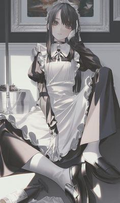 Kawaii Anime Girl, Anime Art Girl, Manga Art, Manga Anime, Anime Maid, Arte Obscura, Beautiful Anime Girl, Character Design Inspiration, Character Illustration