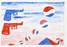 Untitled Pepsi's And Sun 2 Guns) Derek Boshier Date: 1962 Style: Pop Art Genre: figurative James Rosenquist, 2 Guns, Mass Culture, Claes Oldenburg, Jasper Johns, Roy Lichtenstein, English Artists, David Hockney, Royal College Of Art
