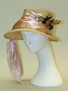 L.S. Plaut hat - c. 1926 - Straw, silk - The Metropolitan Museum of Art