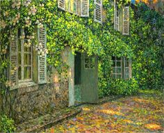 The House in Summer ~ Henri Eugène Le Sidaner ~ (French: 1862-1939)