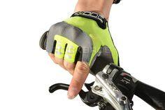 RockBros Non-Slip Breathable Bike Gloves Mens Women's SummerBicycle Short Gloves Cycling Cycle Gel Pad Short Half Finger Gloves
