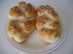 Domáce pletenky (fotorecept) - obrázok 7 Bagel, Bread, Food, Basket, Breads, Hoods, Meals, Bakeries