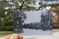 PHOTOS FROM THE PAST COMBINED WITH THE PRESENT    This magnificent project of the University of Florida will get a nice contrast between the present and the past. This concept involves the use of old photographs (of the last 100 years) that are combined with the original place where they were taken.