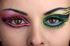 i could see someone wearing this makeup to a rave