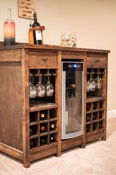 Wine Shelves, Wine Storage, Crate Shelves, Record Storage, Glass Shelves, Diy Home Bar, Bars For Home, Wine Furniture, Cool Furniture