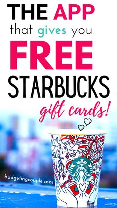 Want a FREE Starbucks Coffee today?! Try out the free app that gives out free Starbucks gift cards plus get a free $5 Gift Card today when you try it out! This money saving app is the perfect way to save money and live frugally without having to lift a finger. Start saving money every time you shop! Budgeting Couple   Budgeting Couple Blog   BudgetingCouple.com #free #starbucks #coffee #giftcards #freebie Frugal Living Tips, Frugal Tips, Free Gift Cards, Free Gifts, Best Money Saving Tips, Saving Money, Free Starbucks Gift Card, Design Home App