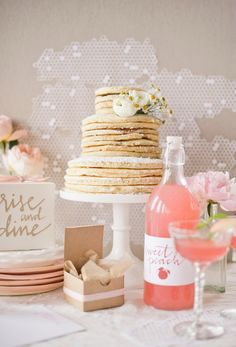 Dessert Au Naturel: Unfrosted Wedding Cakes.....pancake wedding cake = so cute! Imagine pouring syrup over top before cutting into it?!?!!!