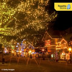 The #Christmas Lighting Festival in Leavenworth, Washington