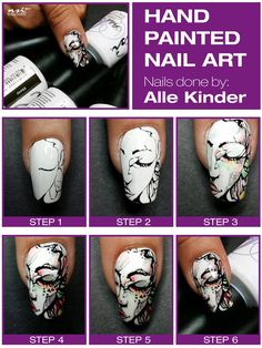 Hand Painted Nail Ar