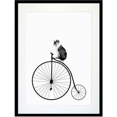Eleanor Stuart - The British Bicycle Dog Print ($33) ❤ liked on Polyvore featuring home, home decor, wall art, art, backgrounds, decor, extra, borders, picture frame and bike wall art