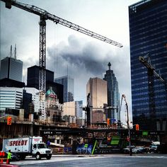 "@einarrice's photo: ""#toronto #construction #sky #clouds #architecture #building"""