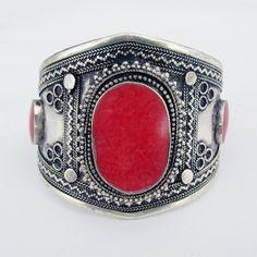Orange stone tribal cuff - www.lostlover.com.au