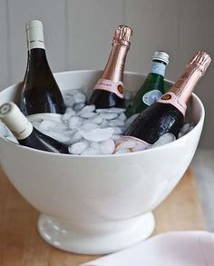 Big bowls like this one are great for chilling sparkling water, wine and champagne