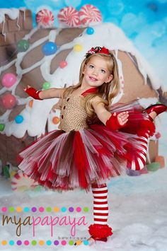Gingerbead Tutu Dress Set Christmas Dress, Gingerbread Girl by MyaPapayaBoutique on Etsy Diy Tutu, Tulle Tutu, Christmas Tutu Dress, Christmas Costumes, Halloween Dress, Tutu Outfits, Kids Outfits, Tutu Dresses, Little Princess