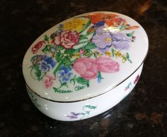 """Lenox Music Trinket Box """"Flower Blossom"""" by Suzanne Clee by KatsVintageTreasures on Etsy"""
