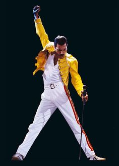 Freddie Mercury (Queen). Seriously, Freddie, no one can compete with you ever. I will never get tired of your voice or music.
