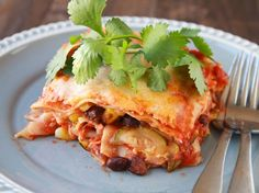 Southwest Sausage and Veggie Lasagna