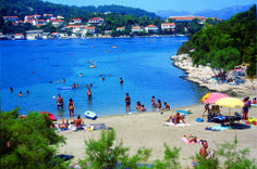 Plaża przed Hotelem Bon Repos