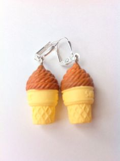 Ice cream dangle earrings girls fun jewelry dessert summer jewellery kids