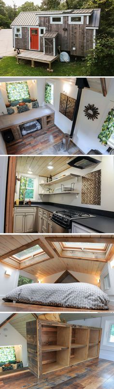 A modern/rustic home from Tiny House Nation that's now available for sale!