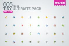605 Tiny Icon Ultimate Pack 605 Icons in Tiny Ultimate Pack | Free Download