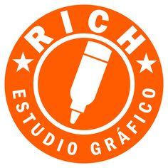 Logo de Rich estudio gráfico sin efectos