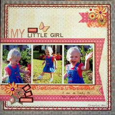 My little girl scrap page
