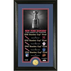 New York Rangers Legacy Supreme Bronze Coin Panoramic Photo Mint