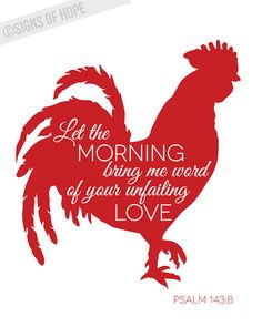 Let the Morning Bring Me Word Rooster Kitchen by signsofhopeshop, $14.00